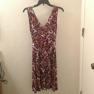NWT LOFT Sleeveless V-Neck Patterned Dress